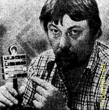 Dieter Binninger mit seiner Berlin-Uhr 1976